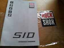 Manuals Rock Shox SID manual,Judy,Marzocchi Bomber