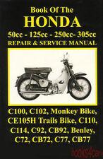 BOOK OF THE HONDA MOTORCYCLE SHOP MANUAL REPAIR SERVICE