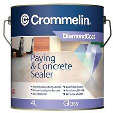 Crommelin DIAMONDCOAT PAVING & CONCRETE SEALER 4L–Gloss, Satin Or Natural Finis