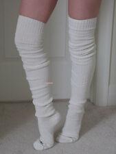 Long Over The Knee Slouch Socks OTK Thigh High Beige Black Loose Japanese School