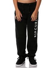 Rip curl Boys Youth Transfer Track Pants Fleece Tracksuit Jogging Black 10-16