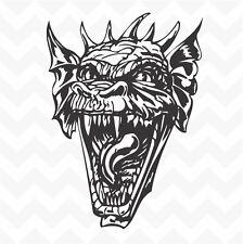 Dragon head vinyl wall art sticker decal fantasy for home car study man cave #78