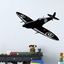 Fun Airplane Wall Sticker Black Airplane Wall Art Decals For Kids Room 43cmx57cm