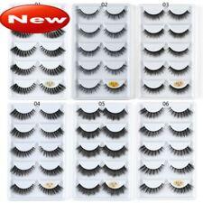 SK 5 Pairs 3D Mink Hair False Eyelashes Wispy Fluffy Long Thick Lashes Beauty *