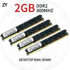 8GB 4x 2GB 1GB DDR2 PC2-6400U 800MHz CL6 NON-ECC DIMM Desktop RAM Memory Lot UK