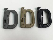 Mil Spec ITW Fastex Nexus Grimloc Grimlock MOLLE D Ring BLACK TAN FOLIAGE