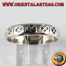 Anello in argento 925 ‰( fascetta ),con la croce cosmica