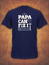 If Papa  Can't Fix It Birthday Christmas Xmas Present  Mens T-Shirt Navy