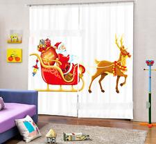 3D Deer Car 0124Blockout Photo Curtain Printing Curtain Drapes Fabric Window UK