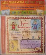 CD enfant Pack anniversaire Chansons Comptines 0 à 3 an