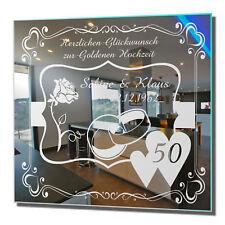 Motivspiegel Goldene Hochzeit 3 Hochzeitsgeschenk Wandschmuck Wedding 50 Years
