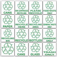 Multi listing-recycling stickers-environment label-recycle LOGO segni esterni