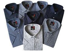 Uomo Paisley Floreale Azteco REG / dimensione Maxi Estate manica corta Camicie M-5XL