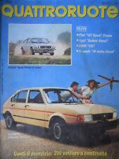Quattroruote 319 1982 Nuova Alfasud Junior,Alfasud Sprint1.5 Trofeo.Fiat127sport