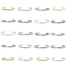 Edelstahl Armband Armreif positive Zitate Manschette für Herren Damen NEU #42