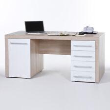 Schreibtisch Cube PC-Tisch Computertisch weiß und Sonoma Eiche 160x70 cm