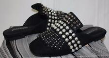 Jeffrey Campbell Ravis Black suede silver embellished mules shoes NEW!