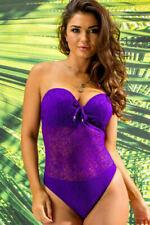 Pour Moi Swimwear Puerto Rico Padded Swimsuit Swimming Costume 65006 Denim