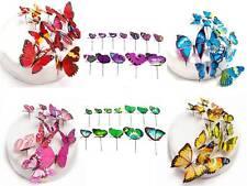 12 PVC 3D Butterflies Baby Cupcake Wedding Cake Topper Decoration Butterfly Cute