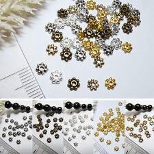 Spacer Fleur * 50x * CHOIX DE COULEUR 4 mm * Mini entre Perle Tibet Argent métal perle