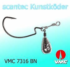 2 Stück Jika / Jiga / Jig Rig in Birnenform und VMC 7316 BN Wide Gap Haken