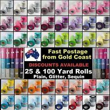 "Tulle Fabric Spool Roll 6"" 25/100 Yards Wedding Tutu Craft Glitter Sequin"