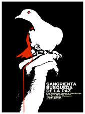 Sangrienta búsqueda de la paz vintage POSTER.Graphic Design.Art Decoration.3065