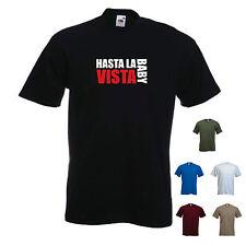 'Hasta La Vista, Baby'. Terminator 2 Arnie T-shirt Tee. S-XXL