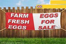 Farm Fresh Eggs For Sale Heavy Duty PVC Banner Sign 4309