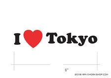 I LOVE TOKYO Sticker DieCut Decal Diecut Anime Manga