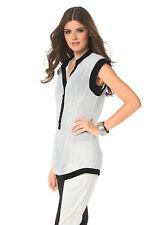 BUFFALO Bluse. Weiß-schwarz. NEU!!! %SALE%