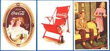 LOTTO#1 - 3 FIGURINE STICKERS THE WORLD OF COCA COLA