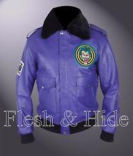 Batman Henchman Joker Goon Purple Bomber Jacket with Faux Fur Collar