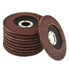 "10 x Flap Discs 80 Grit Winkelschleifer 4,5"" 115mm flach"