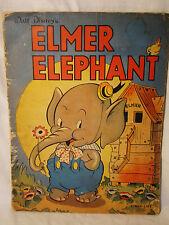 Walt Disney. Elmer Elephant. First Ed 1938 Linen-like w/ Color Illustrations