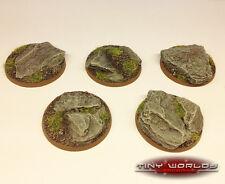 40mm Round Rock / Slate SCENIC RESINA basi WARHAMMER 40K