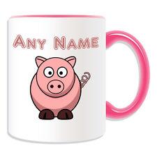 REGALO PERSONALIZZATO TAZZA DA MAIALE SALVADANAIO Coppa di personalizzare il nome Tè Caffè SILLY Piggy