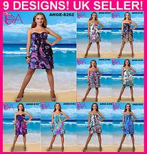 NEW! SEXY BEACH PARTY SUMMER SHORT WOMEN DRESS SIZE 8-18 UK 9 DESIGNS UK SELLER!
