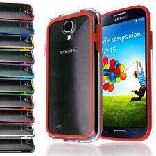 Clara y transparente marco parachoques caso cubierta de plástico para Samsung Galaxy S4 Iv 9500