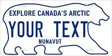 Nunavut 1999 Polar Bear Personalized Custom License Plate Car Motorcycle Bike