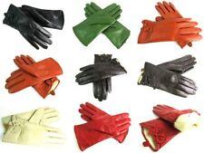 Damen Premium Qualität Weiches Echtleder Handschuhe Pelzfutter Warm Schleife