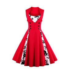 Women'S  50's Vintage Rockabilly Evening Bridesmaid Dress Swing Dress Sundress