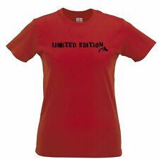 Novelty Slogan Womens TShirt I Am Limited Edition Arrow Vanity Gift Idea Joke
