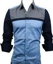 GL FASHIONS #51 New Designed Mens Casual Slim Dress Shirts UK size S-XXL
