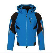 Spyder Herren Ski Jacke Verbier Jacke Blau Orange Größe S Neu UVP 700 Euro