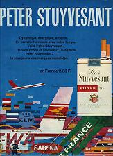 PUBLICITE  1969   PETER STUYVESANT cigarettes au depart de la SABENA KLM