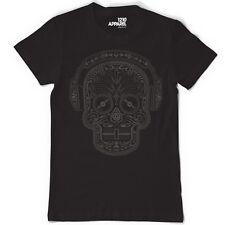 Skull & Phones DJ tee - Mexican Sugar Candy Skull Headphones Day of Dead