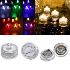 12Pcs Super Bright Flameless Waterproof LED Tea Lights Candles Submersible UK