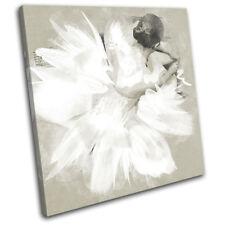 Ballerina Paint Abstract Performing SINGLE DOEK WALL ART foto afdrukken