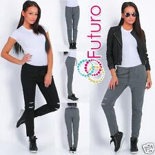 Casual Trousers 100% Cotton Leggings Street Pants Bottoms Size 8-12 FT1482